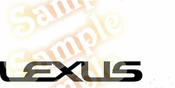 LEXUS Vinyl Decal Car Performance Stickers