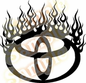 FLAME SATURN Vinyl Decal Car Performance Stickers