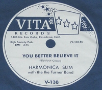 "VITA ""You Better Believe It"" (Harmonica Slim)"