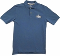 Chess Records Polo- Slate Blue