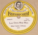 "Paramount ""Low Down Mojo Blues"" (Blind Lemon Jefferson)"