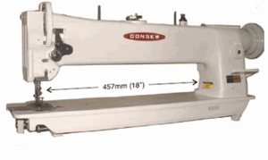 "Consew 206RBL-18"" Longarm Compound Walking Foot & Needle Feed Industrial Sewing Machine"
