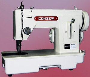 Consew CP206R Portable Walking Foot SS All metal Flatbed Sewing Machine like Sailrite,Thompson & Alphasew 110V