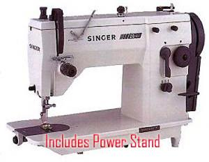 Singer 20U73 Best Buy Professional 9mm ZZ & SS Industrial Sewing Machine & Fully Power Stand & Motor