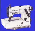 Singer 754U300 Flat Bed 3 Needle 5 Thread Industrial Sewing Machine & Bottom Coverstitch