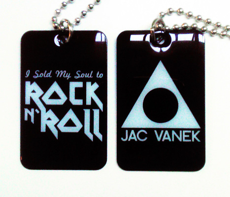 ROCK AND ROLL DOGTAG NECKLACE