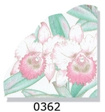 Iris Turquoise and Pink Floral Rice Napkins 15 ct.
