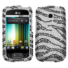 LG OPTIMUS T (P509) Diamante Protector Phone Cases