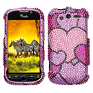 HTC MyTouch 4G Diamante Phone Cases / Mytouch 4G Diamante Hard Covers / Diamante Protector Covers / Snap On / Face Cover