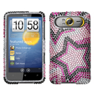 HTC HD7 Diamante Phone Cases / HD7 Diamante Hard Covers / Diamante Protector Covers / Snap On / Face Cover