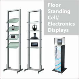 Floor-Standing Electronics Displays