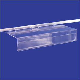 Slatwall Shelf Clear with  Large Sign Slot $1.50 - $1.90