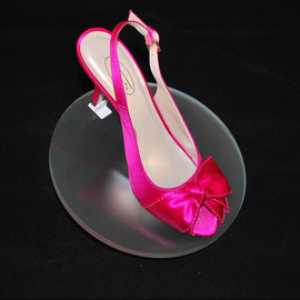 Elegant Round Raised Shoe Display