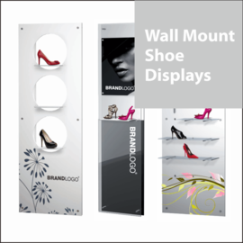 Wall Mount Shoe Display Panels