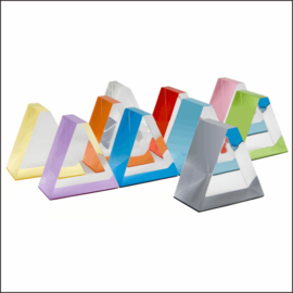 D1 Countertop Prism-Shaped Acrylic Displays for Electronics