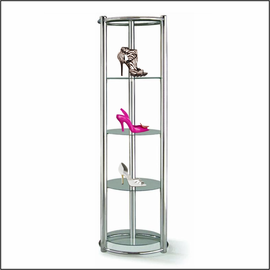 Floortop Round Display Unit for Shoes