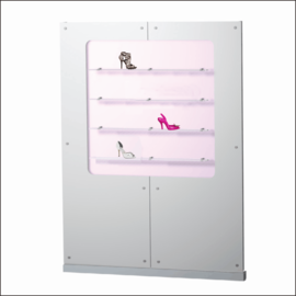 "Shoe Display Panel [AP15-20-SQ-SH] 61.4"" x 81"""