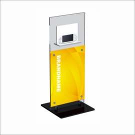 Windo with Poster Panel Counter Top Displays for Electronics