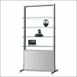 AR251 Electronics Display Shelf System With Mirror