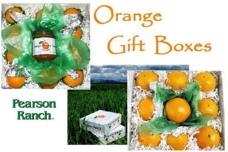 California Orange Gift Boxes