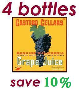 Castoro Cellars Non Alcoholic Grape Juice (4-bottles)