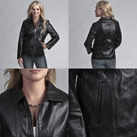 BulletBlocker NIJ IIIA Bulletproof Women's Fitted Leather Jacket