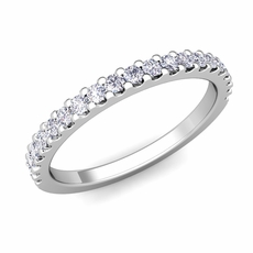 petite pave diamond wedding ring band in platinum 032 cttw158600 - Wedding Rings For Her