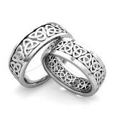 matching celtic knot wedding band in 14k gold diamond comfort fit ring216600