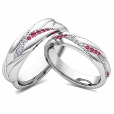 Matching Wedding Bands for Him and Her | My Love Wedding Ring