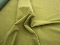 r9283, 3 7/8 yards of pine green dimpled faux suede upholstery fabric