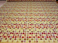 r8954, 3.9 yds geometric shapes upholstery fabric