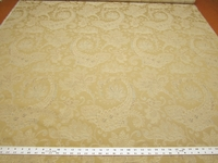 r9699, 2 1/2 yards formal floral paisley upholstery fabric