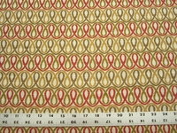 r9701, 1 1/8 yards geometric loops design upholstery fabric
