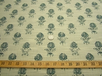 r9632, 1 3/4 yards of petite flowers upholstery fabric