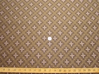 r9628, 1 5/8 yards of geometric circles upholstery fabric