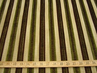 r9608, 1 3/8 yards of chenille mix stripe upholstery fabric