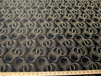 r9049, 2 5/8 yards of formal circles upholstery fabric