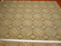 r9669, 1 1/4 yards of geometric patterned upholstery fabric