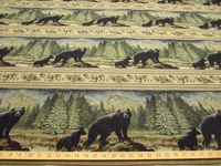 "ft101, ""Ben"" Black Bear and Cub frieze tapestry"