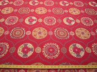 ft119, Nomad Suzani Frame Classic upholstery fabric color raspberry