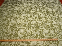 ft115,  Minuet Floral Scroll jacquard upholstery fabric color willow