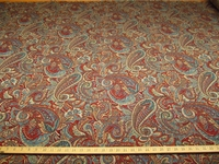 ft118, Kopen Paisley Jacquard upholstery fabric color lapis
