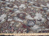 ft706 Magellan Old World Map tapestry jewel