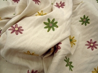 ft102, Happy Flowers embroidered drapery fabric by Robert Allen
