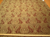 r9489, 2 1/4 yards of Madison russet paisley chenille upholstery fabric