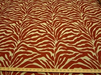 r9800, 1 7/8 yards Tiger Stripe Chenille Upholstery Fabric