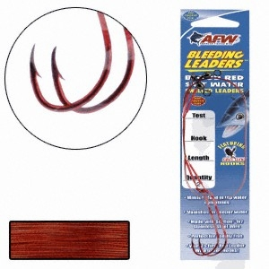 American Fishing Wire Bleeding Leaders Snelled Hooks