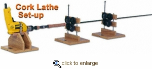 Flex Coat Cork Lathe Set-Up