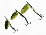 CP Swing Brass and Silver Spinning Lures