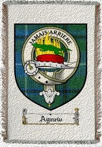 Agnew Clan Douglas Clan Badge Throw Blanket